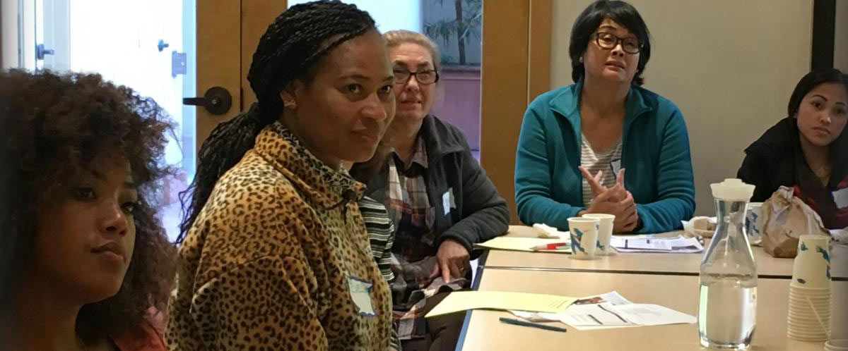 Eveline (center) at the Seniors At Home Palliative Care training course