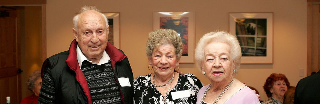 Holocaust survivors at event